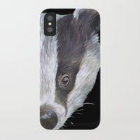 badger iPhone & iPod Cases featuring Badger! by Alison Jacobs