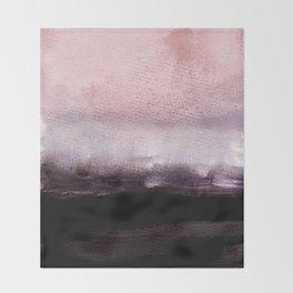 blush over purple Throw Blanket