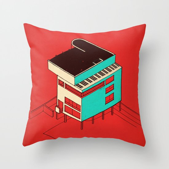 Music & Architecture Throw Pillow