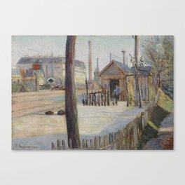 Railway Junction near Bois-Colombes Canvas Print