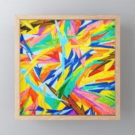 Rainbow Bolts Framed Mini Art Print