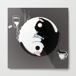 ying yang cats Metal Print