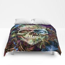 leaves skull i Comforters