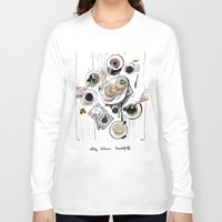 breakfast Long Sleeve T-shirts featuring Breakfast by Ksenia Sapunkova