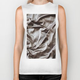 WOKE UP LIKE THIS - abstract luxury shiny texture, modern, monochrome Biker Tank