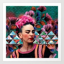 Flowery Frida Kunstdrucke