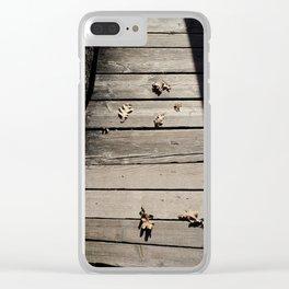 Pensive Autumn Clear iPhone Case