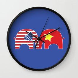 U.S.-Vietnam Friendship Elephants Wall Clock