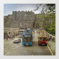 edinburgh Canvas Prints featuring Edinburgh by Peaky40