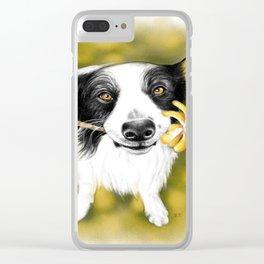 Cute Border Collie Clear iPhone Case
