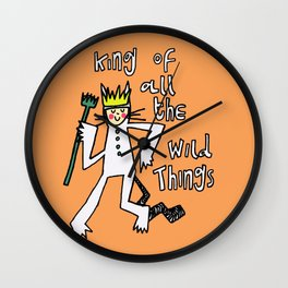 King of All the Wild Things Wall Clock
