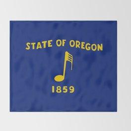 Musical Oregon State Flag Throw Blanket