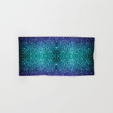 Beautiful Aqua blue Ombre glitter sparkles Hand & Bath Towel