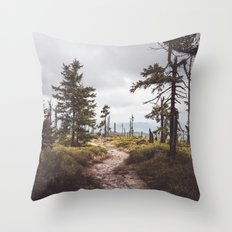 Over the mountains and through the woods Throw Pillow