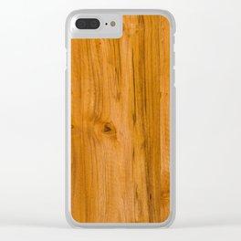 Teak Wood Clear iPhone Case
