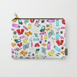 Work Out Items Pattern Carry-All Pouch