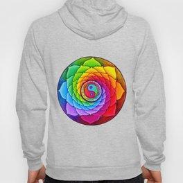 Healing Lotus Rainbow Yin Yang Mandala Hoody