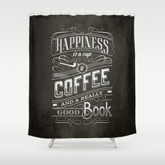 Coffee - Typography Shower Curtain