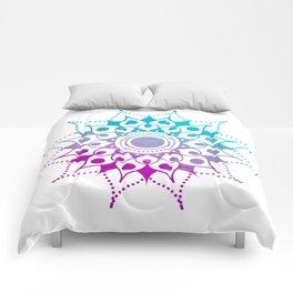 Mandala #2 (Purple Pink Turquiose) Comforters