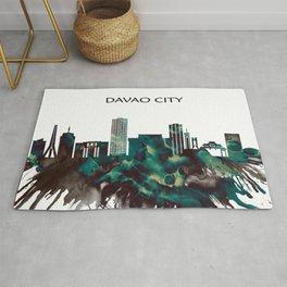 Davao City Skyline Rug