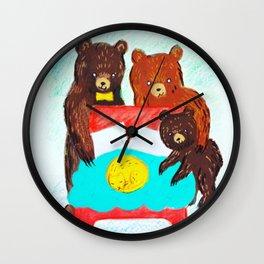 Goldilocks and the Three Bears Wall Clock