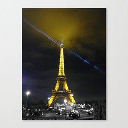 saturday night Eiffel tower Paris by night Canvas Print