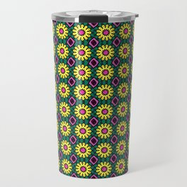 Dainty Yellow Flowers with Hot Pink Pistil Travel Mug