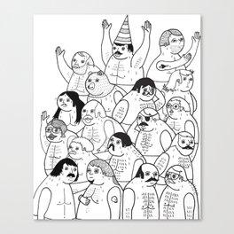 Sauna Club Canvas Print