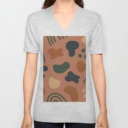 Organic colorful shapes pattern Unisex V-Neck