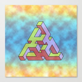 Triangle Of Abstract Colorful Canvas Print