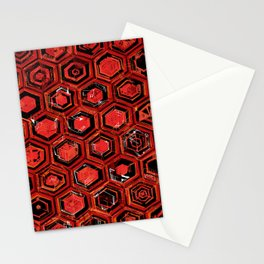 Lava Hex Stationery Cards