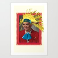 megan lara Art Prints featuring Lara by Robert Cooper