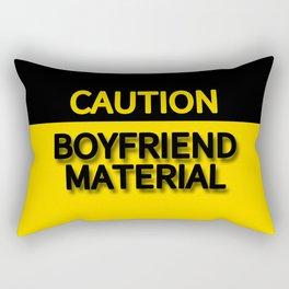 CAUTION BOYFRIEND MATERIAL Rectangular Pillow