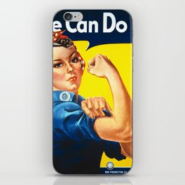 Rosie The Riveter Vintage Women Empower Women's Rights Sexual Harassment iPhone Skin