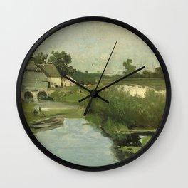Summer Day By Johan Hendrik Weissenbruch | Reproduction Wall Clock