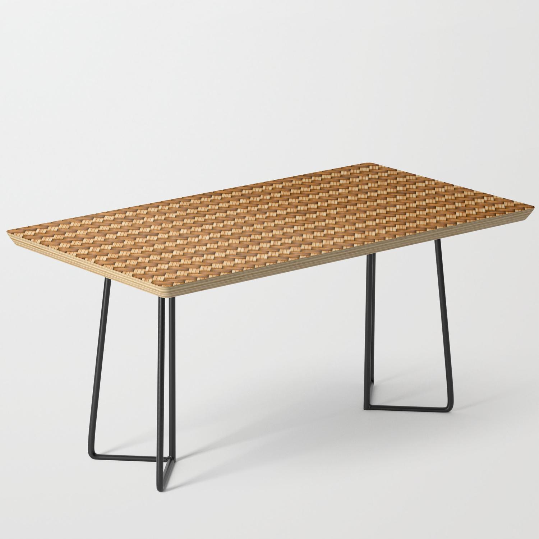 Basket Weave Pattern Coffee Table By
