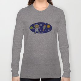 Space Chimp Astronaut Monkey Long Sleeve T-shirt