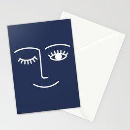 Wink / Navy Stationery Cards