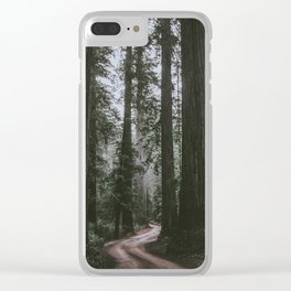 Redwoods Road Clear iPhone Case