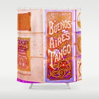 argentina Shower Curtains featuring Tango Buenos Aires, Argentina. by Alejandra Triana Muñoz (Alejandra Sweet