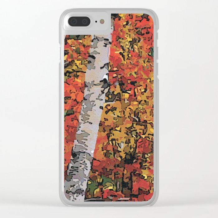Birch Trees Clear iPhone Case