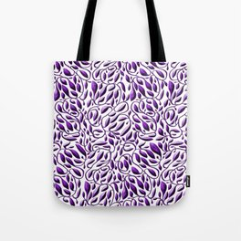 Purple Leaf Weave Tote Bag