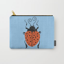 Little Ladybug Blue Carry-All Pouch