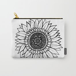 B&W Sunflower Carry-All Pouch