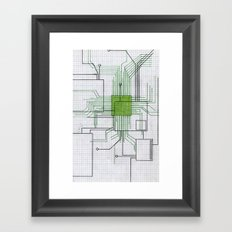 Circuit board green Framed Art Print