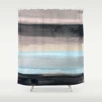 santa monica Shower Curtains featuring Santa Monica by Steven k Schmidt