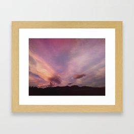 Sunset at 75 mph Framed Art Print