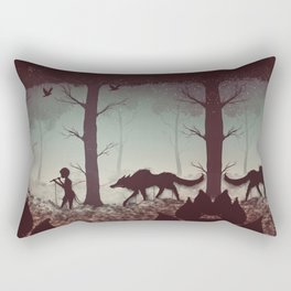 Wolf Parade Rectangular Pillow
