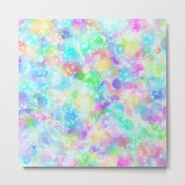 Rainbow Bubbles, Shining Stars and Color Magic Metal Print