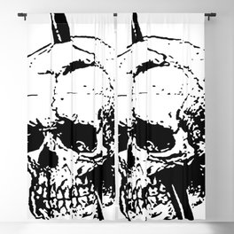 Skull of Phineas Gage With Tamping Iron Blackout Curtain